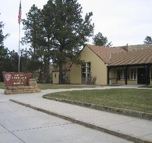 The front exterior of the visitor center.