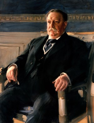 William Taft seated for portrait