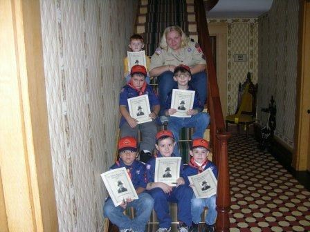 Scouts visit Taft birth home and receive their Junior Ranger Badges.