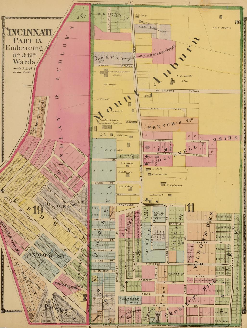 Us Map Cincinnati.Historic Mount Auburn Avenue William Howard Taft National Historic