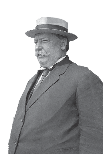 A photo of William Howard Taft wearing a hat