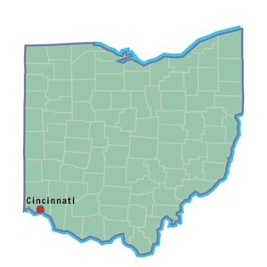 Cincinnati map location
