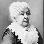 Photograph of Elizabeth Cady Stanton facing right around 1890