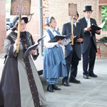 Hutchinson Family Revival perform in period costumes.