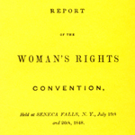 report of the first woman's rights convention