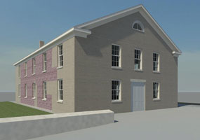 Artist's rendering of the new rehabilitated Wesleyan Chapel