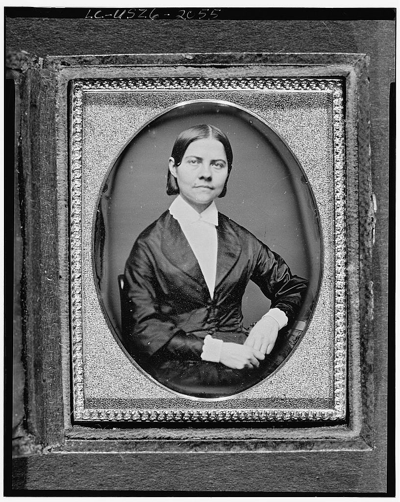 Lucy Stone facing forward, taken around 1850.