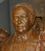 Bronze statue of Richard Hunt, one of the group memorialized in The First Wave exhibit.