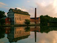 Seneca Knitting Mill on the Cayuga Seneca Canal in Seneca Falls, New York