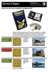 poster showing the three different passport stamps available at our park.