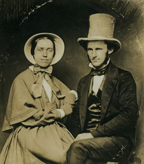 Catharine Paine seated next to her husband David Blaine
