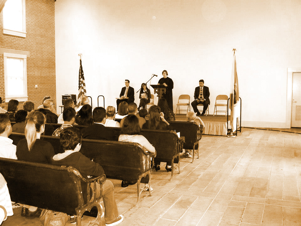 A Naturalization Ceremony held at the Wesleyan Chapel
