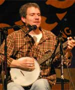 Dave Ruch plays the banjo.