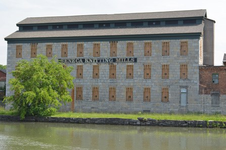 Seneca Falls Knitting Mill which was in operation at the time of the First Women's Rights Convention in 1848