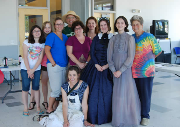group photo of Arts Afire July 2012 workshop participants