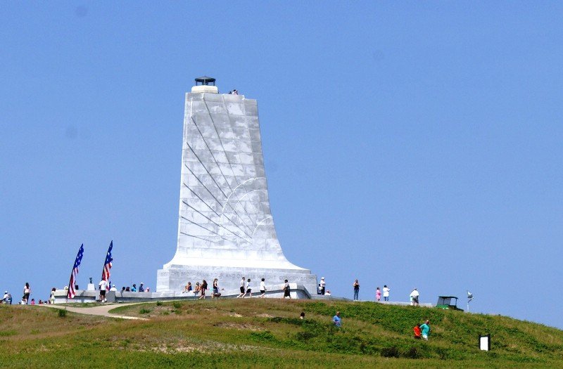 The Wright Brothers Monument atop Big Kill Devil Hill
