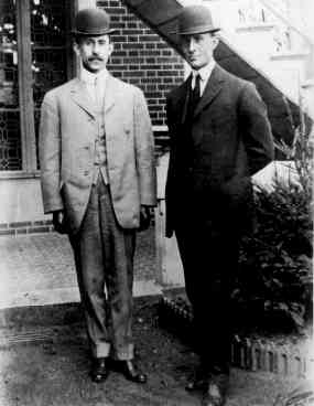 Wilbur and Orville Wright in 1909