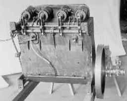A 1928 reproduction of the 1903 Wright brothers' engine