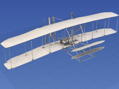 Smithsonian 3D Explorer of 1903 Wright Flyer