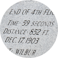 Marker of the fourth flight landing spot.