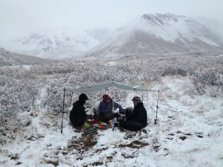 Cooking in the snow