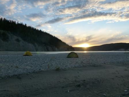 Sunset over the Chitina River