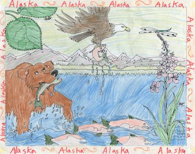 Copper River Coloring Sheet by P. Reser