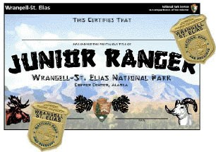 Junior Ranger Certificate and badges