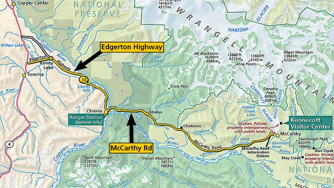 Map showing location of Edgerton Highway and McCarthy Road.