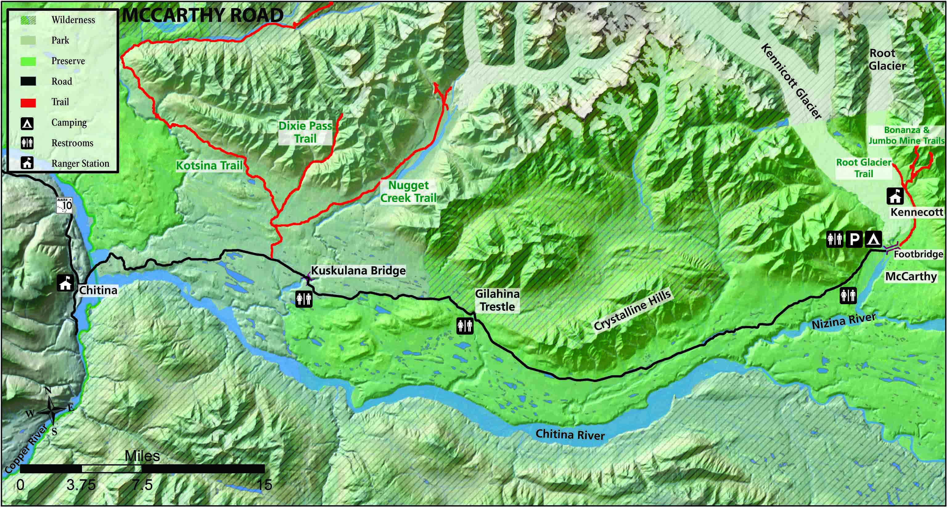 Off Road Vehicle ORV Trails Wrangell St Elias National Park
