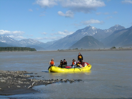Raft on the Copper River