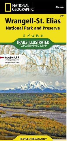 Denali National Park Topographic Map on