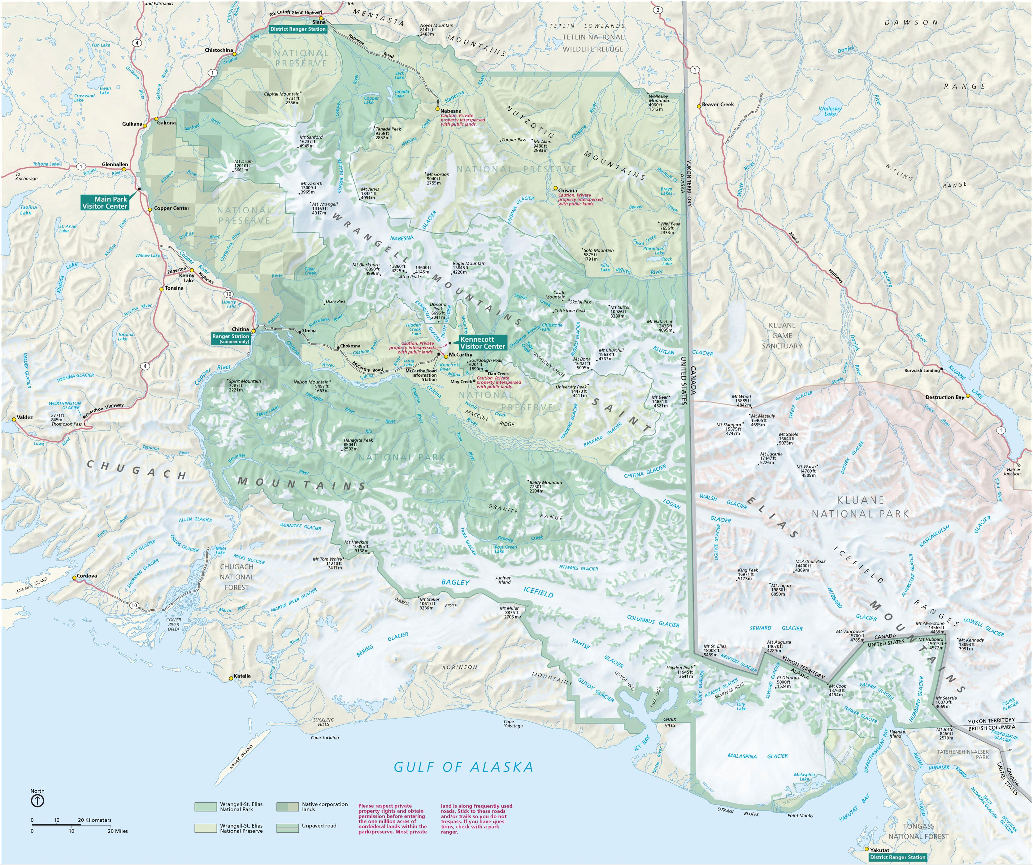 Brochures Wrangell St Elias National Park Preserve US - Map of all national parks in us