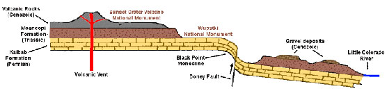 diagram - geologic cross-section