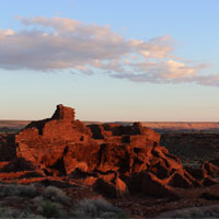 Wupatki Pueblo at sunrise