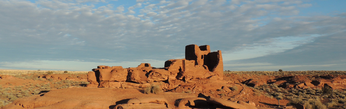 Remains of an ancient pueblo.