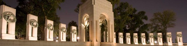 World War II Memorial granite columns
