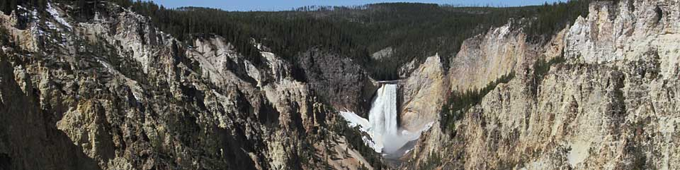 Lower Falls of the Yellowstone.