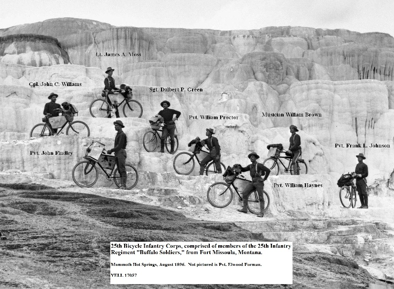 25th Infantry Bicycle Corp on Minerva Terrace, 1895
