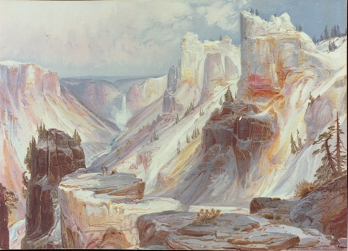 Grand Canyon of the Yellowstone by Thomas Moran (chromolithograph).