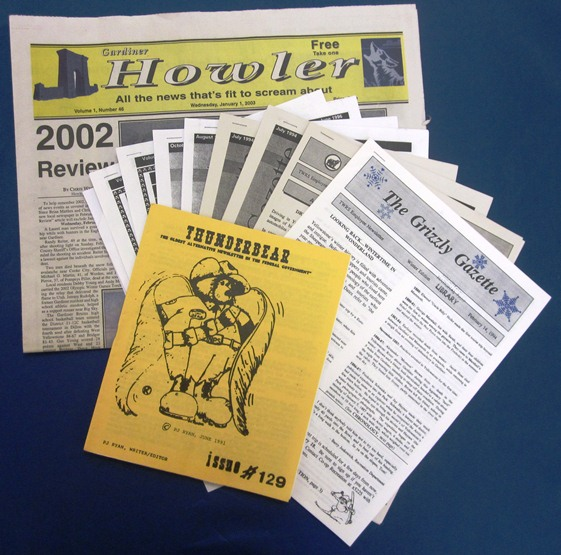 Newspapers and newsletters collected by the Yellowstone Research Library, 2013.