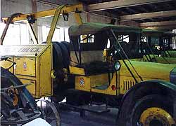 (YELL 106383) 1927 Model 51 service truck with PTO winch in the park's museum collection.