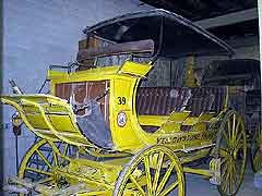(YELL 90065) 4-Horse Yellowstone Observation Wagon, Yellowstone Park Company Number 39, in the park's museum collection.
