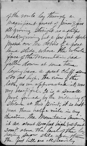 An image of page one of Thomas Moran's Diary.