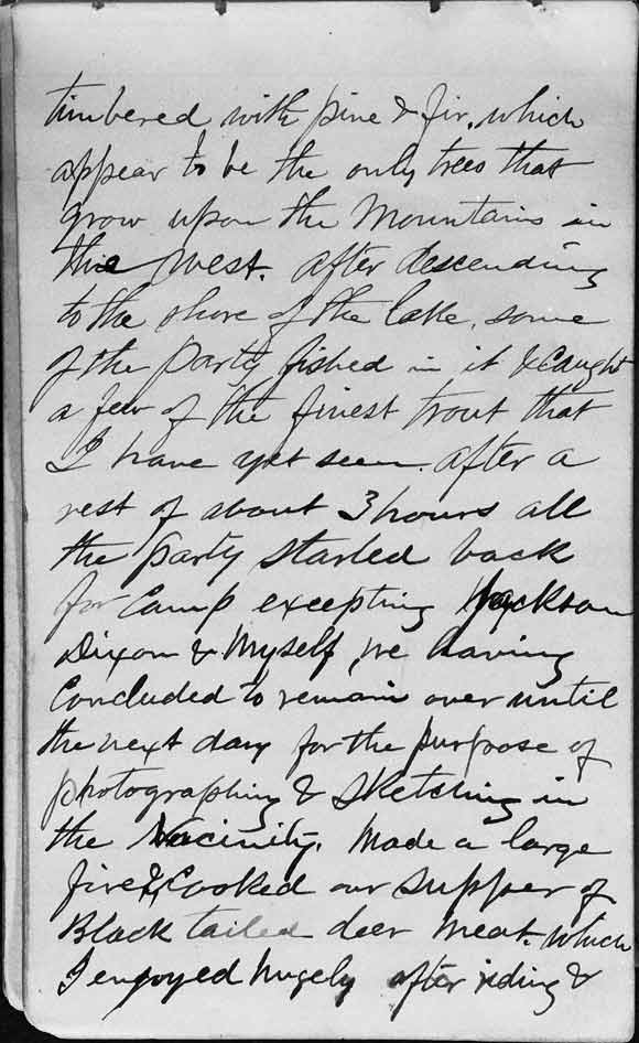 A large image of Thomas Moran's Diary page two.