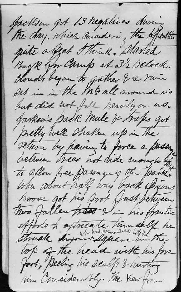 A large image of Thomas Moran's diary page four.