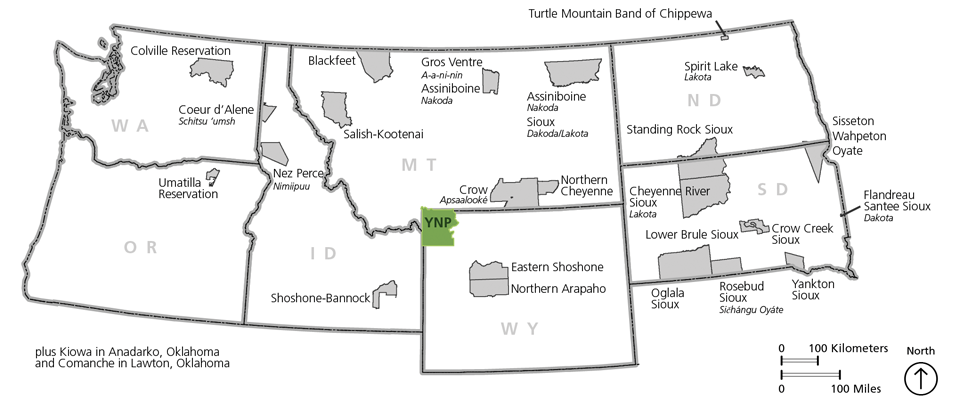 Associated Tribes - Yellowstone National Park (U S  National