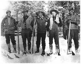 Members of the snowshoe cavalry