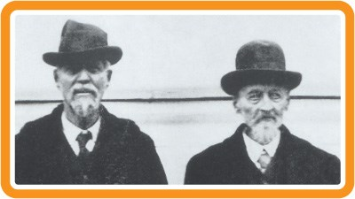 Later photograph of two members from the 1869 Folsom-Cook-Peterson Expedition.