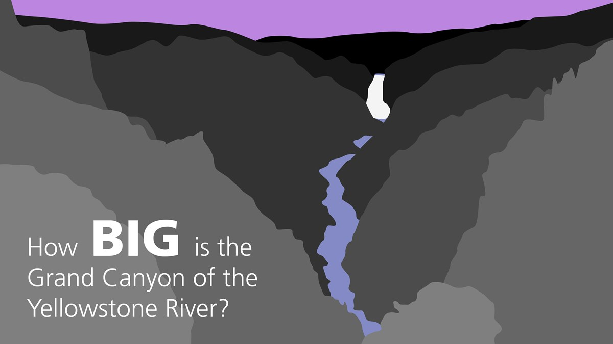 Illustration of the Grand Canyon of the Yellowstone River.